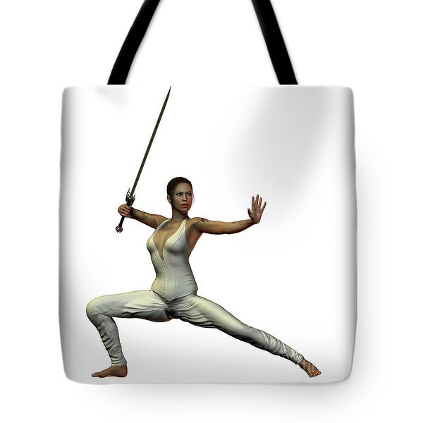 Female Warroir Tote Bag