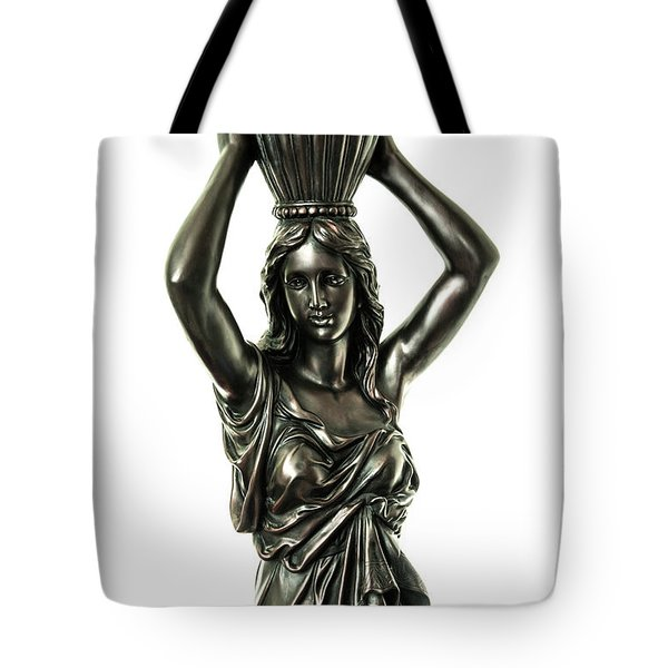 Female Water Goddess Bronze Statue 3288a Tote Bag