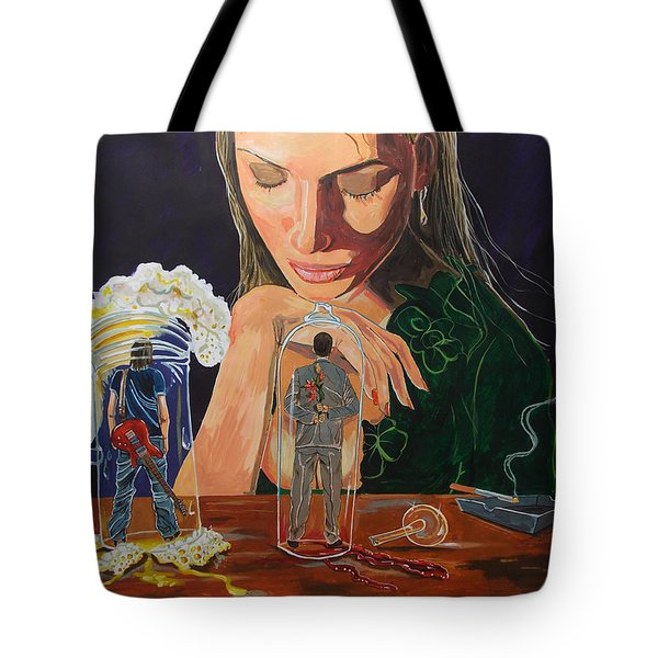 Femina Deciding Tote Bag by Lazaro Hurtado