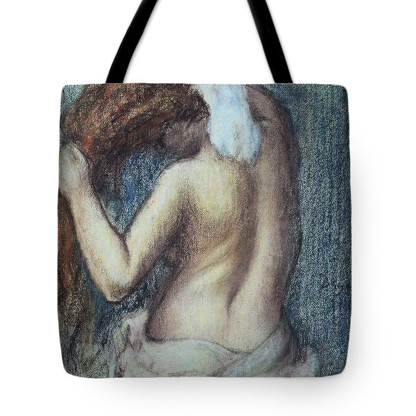 Femme A Sa Toilette Tote Bag