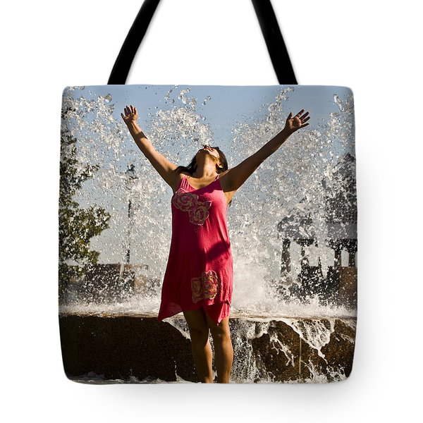 Femme Fountain Tote Bag by Al Powell Photography USA