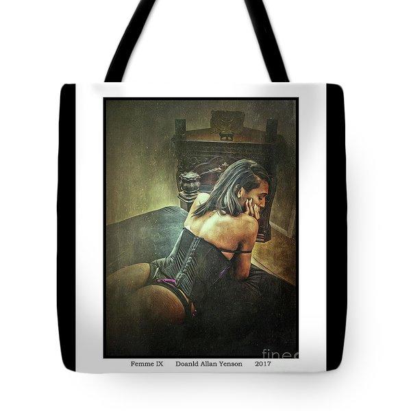 Femme Ix Tote Bag by Donald Yenson