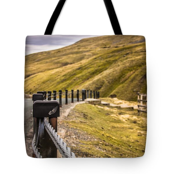 Fence By The Edge Tote Bag by David Warrington