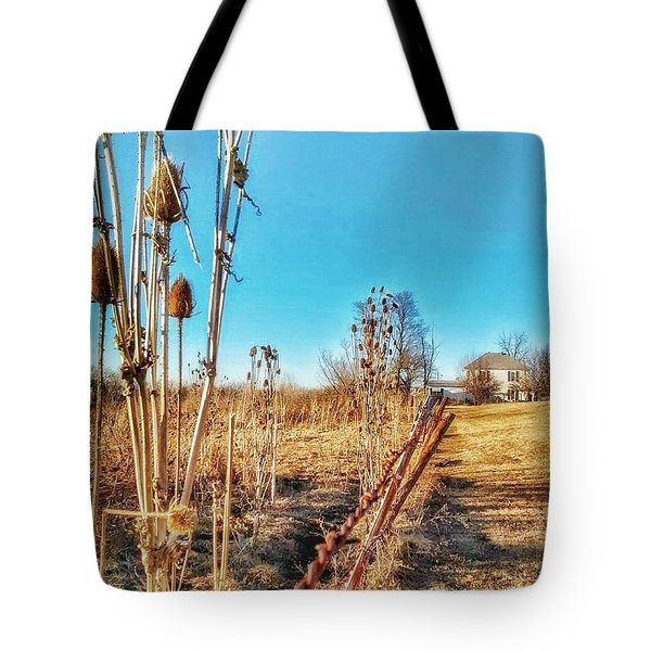 Fence Line Tote Bag by Dustin Soph