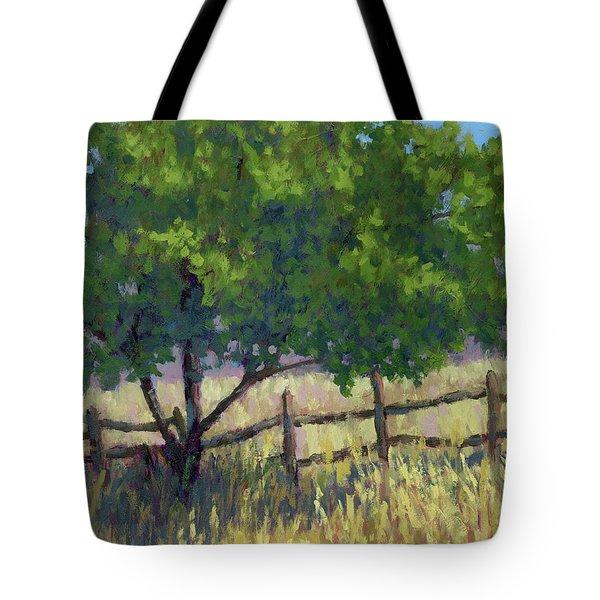 Fence Line Tree Tote Bag