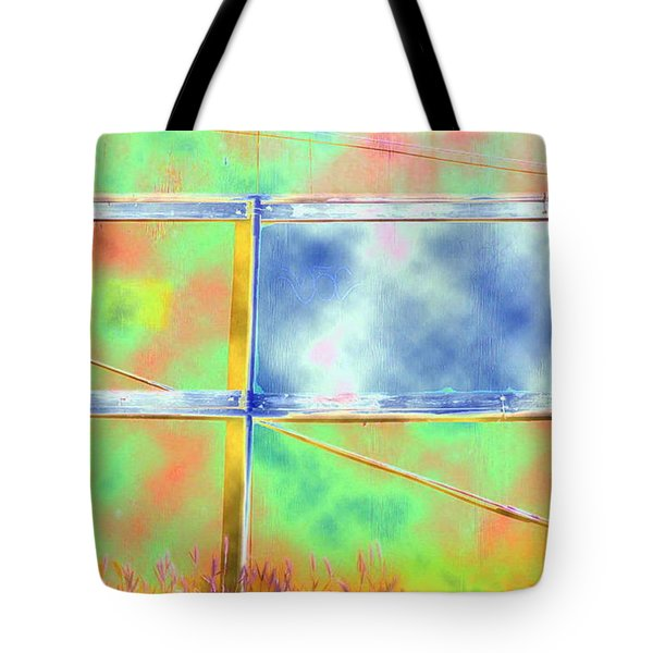 Fence Me In Colorfully Tote Bag