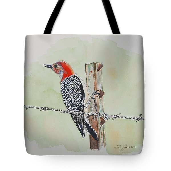 Fence Sitting Tote Bag