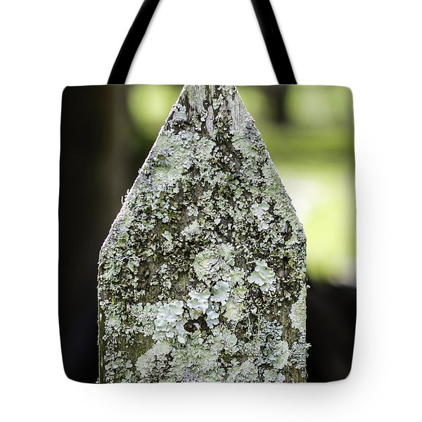 Fence With Moss Tote Bag