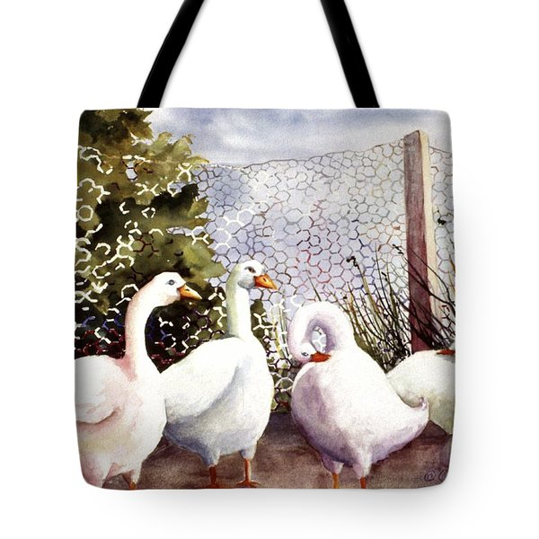 Fenced In Quackers Tote Bag