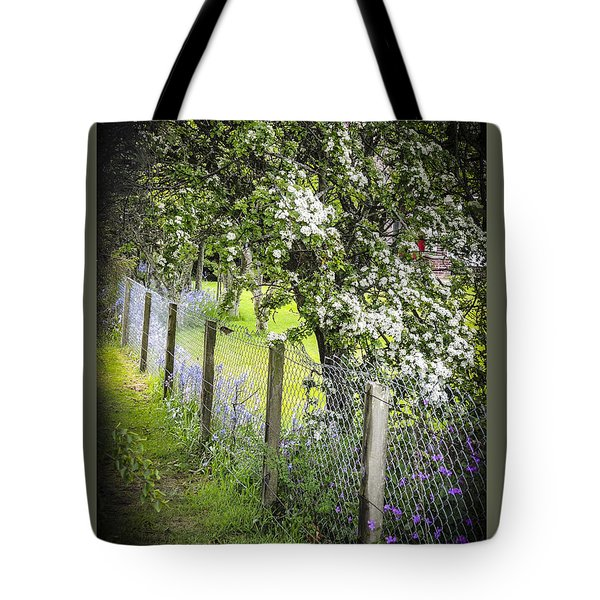 Fenceline Tote Bag by Sally Ross