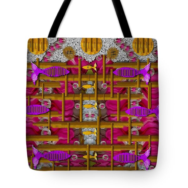 Fences Around Love In Oriental Style Tote Bag by Pepita Selles
