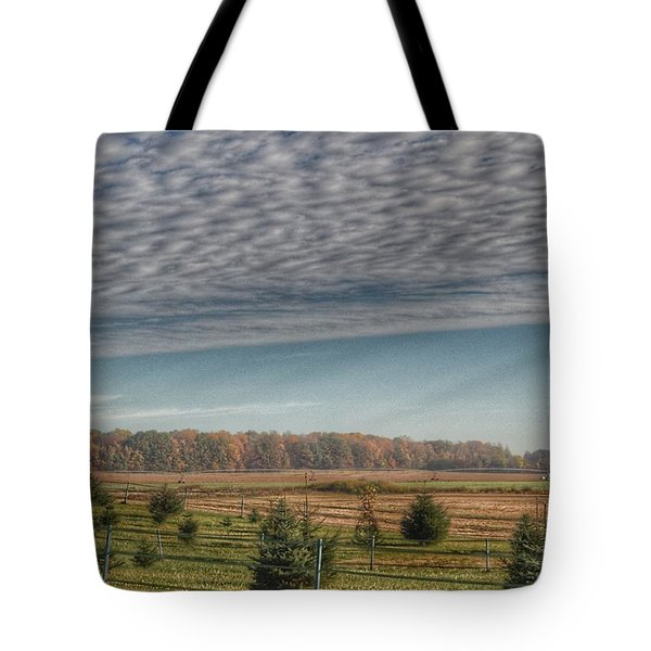 9017 - Fences, Firs And Fall Tote Bag