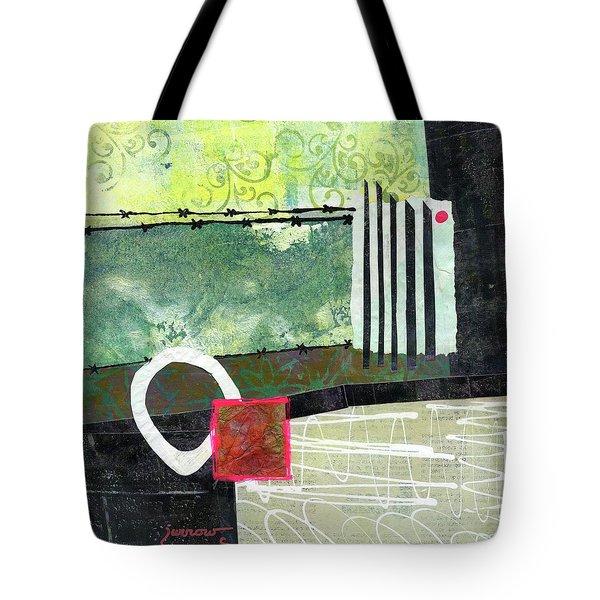 Fences Tote Bag by Sue Furrow