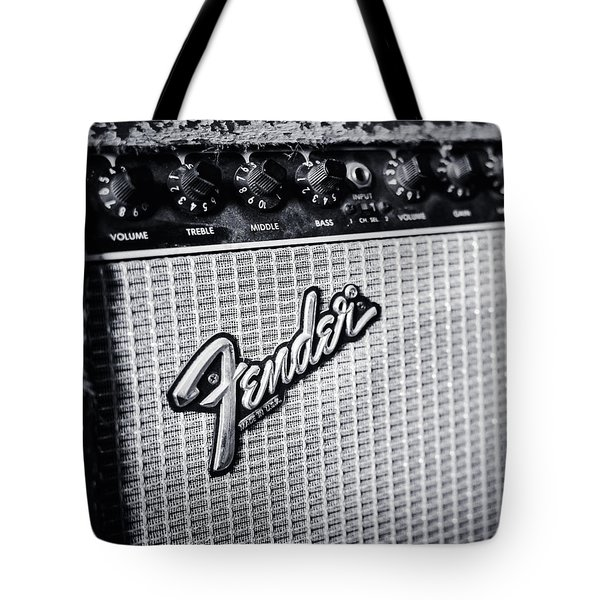 Fender Amp Tote Bag by Andy Crawford