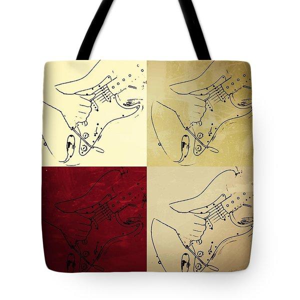 Fender Guitar Panel-quadriptych  Tote Bag