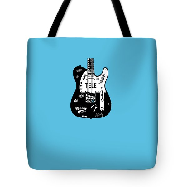 Fender Telecaster 64 Tote Bag by Mark Rogan
