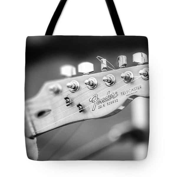 Fender Telecaster Monochrome - Detail Tote Bag