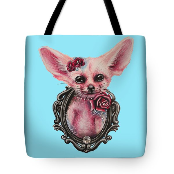 Fennec Fox Tote Bag by Sheena Pike
