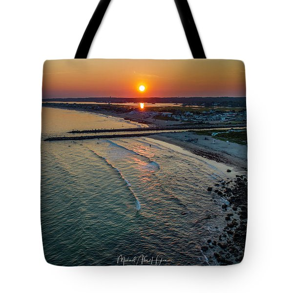 Fenway Beach Sunset Tote Bag
