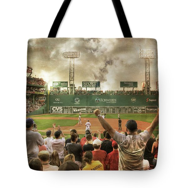 Tote Bag featuring the photograph Fenway Park Green Monster by Joann Vitali