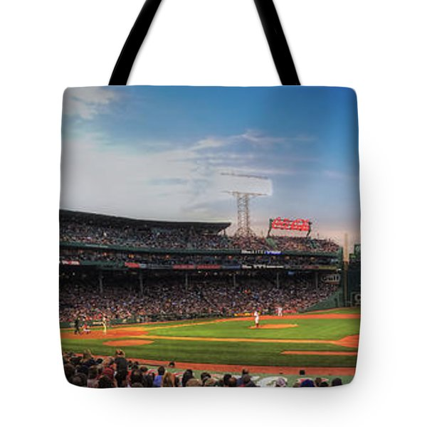 Fenway Park Panoramic - Boston Tote Bag