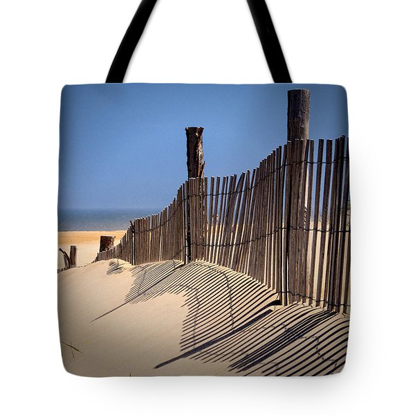 Fenwick Dune Fence And Shadows Tote Bag