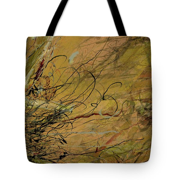 Fern Series Ping To Gray Tendril Detail Tote Bag