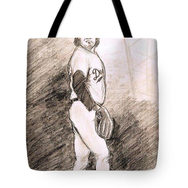 Fernando Valenzuela Tote Bag by Mel Thompson