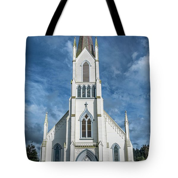 Tote Bag featuring the photograph Ferndale Catholic Church by Greg Nyquist