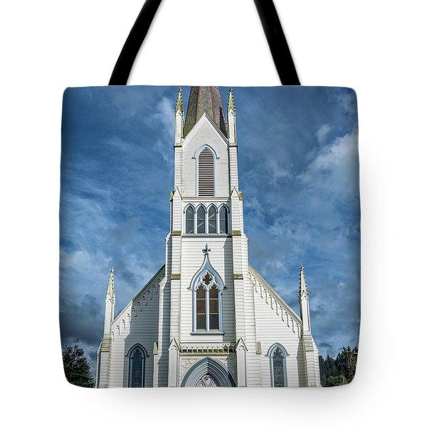 Ferndale Catholic Church Tote Bag by Greg Nyquist