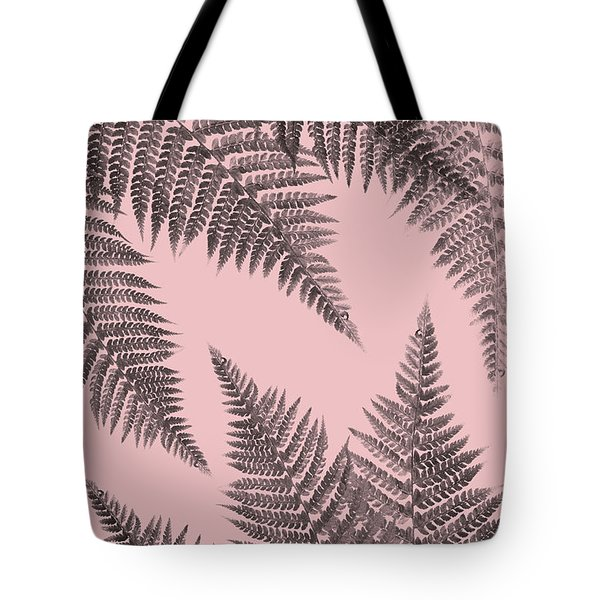 Ferns On Blush Tote Bag
