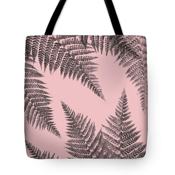 Ferns On Blush Tote Bag