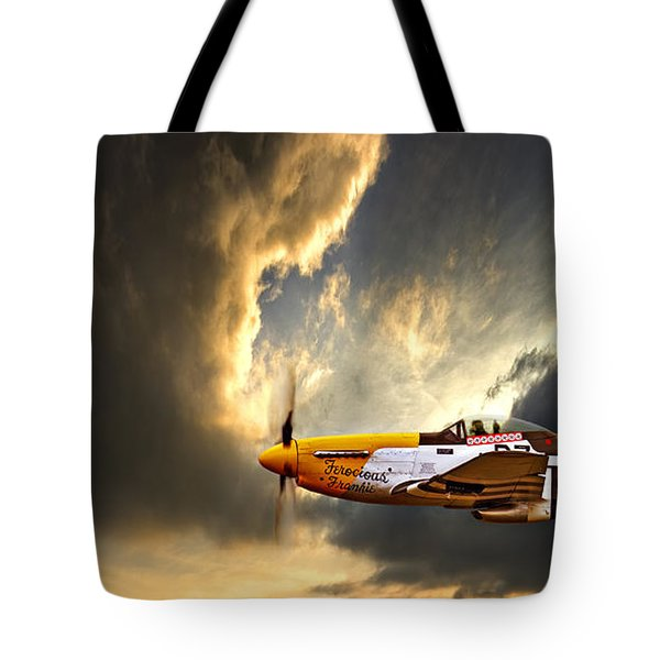 Tote Bag featuring the photograph Ferocious Frankie by Meirion Matthias