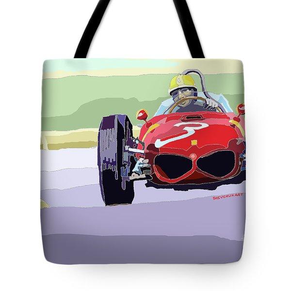 Ferrari 156 Dino 1962 Dutch Gp Tote Bag by Yuriy  Shevchuk