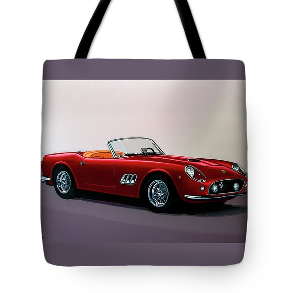Ferrari 250 Gt California Spyder 1957 Painting Tote Bag