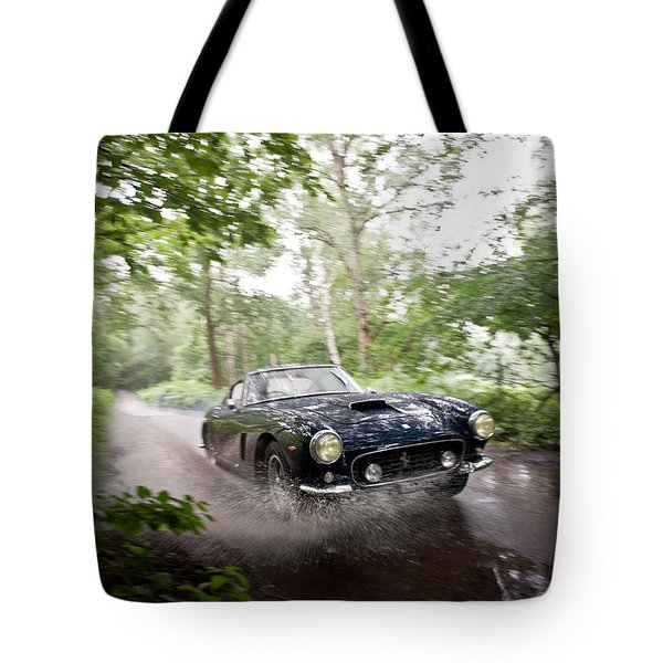 Ferrari 250 Swb Splash Tote Bag