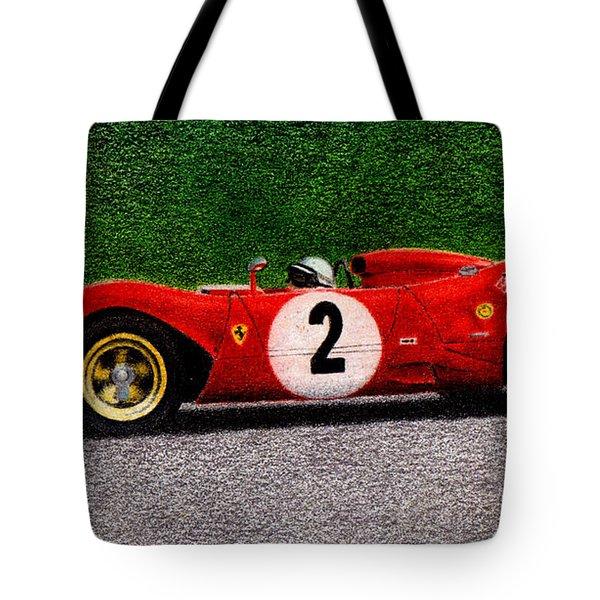 Ferrari 312p Pedro Rodriguez 1969 Tote Bag by Ugo Capeto