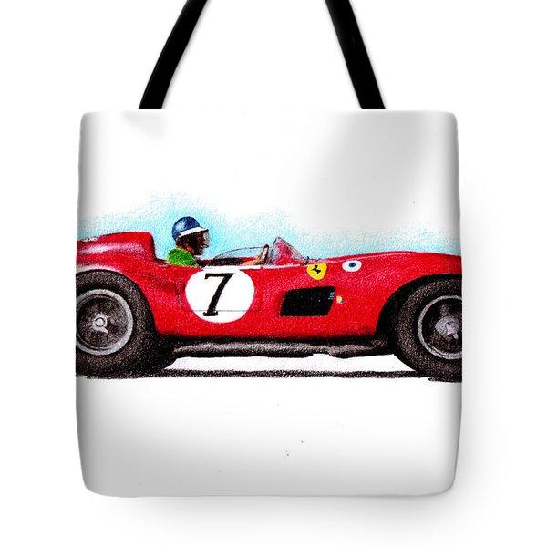 Ferrari 335s Mike Hawthorn 1957 Tote Bag by Ugo Capeto