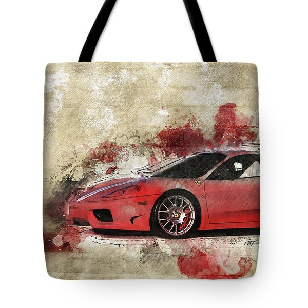 Tote Bag featuring the photograph Ferrari 430  by Joel Witmeyer