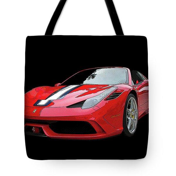 Ferrari 458 Speciale Aperta Tote Bag