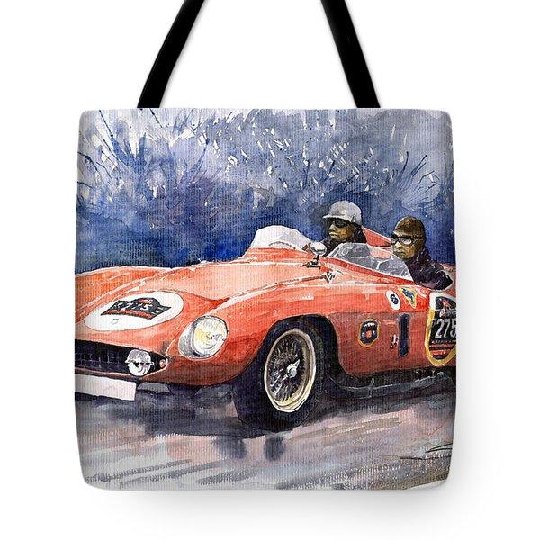 1953-1955 Ferrari 500 Mondial 1000 Miglia Tote Bag