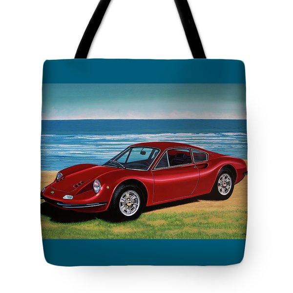 Ferrari Dino 246 Gt 1969 Painting Tote Bag