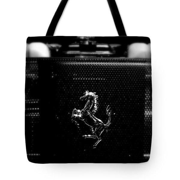 Ferrari Engine Grill Tote Bag by Jeff Lowe