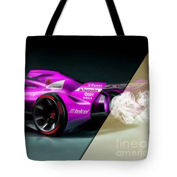 Ferrari F1 Collection Tote Bag by Marvin Blaine