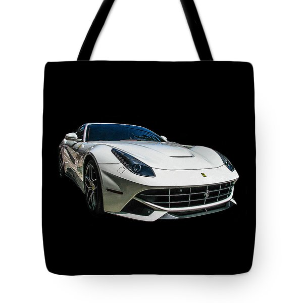 Ferrari F12 Berlinetta In White Tote Bag