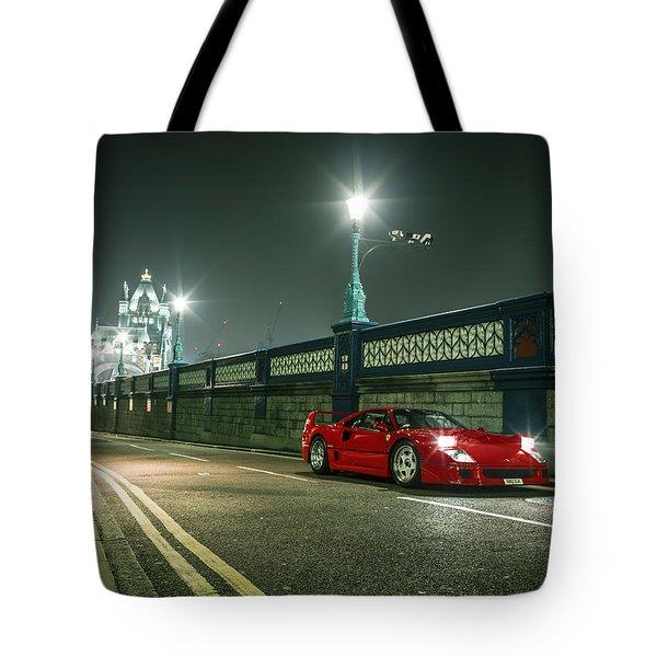 Ferrari F40 London Tote Bag