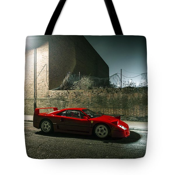Ferrari F40 Lurking Tote Bag