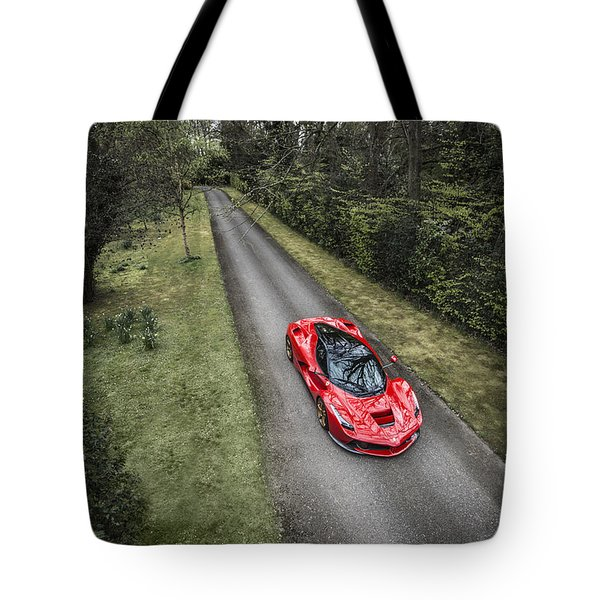 Ferrari Laferrari Country Drive Tote Bag