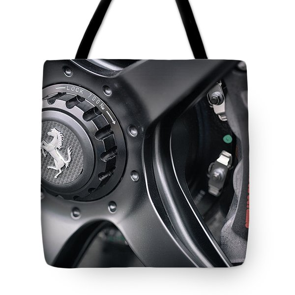 Tote Bag featuring the photograph #ferrari #print by ItzKirb Photography