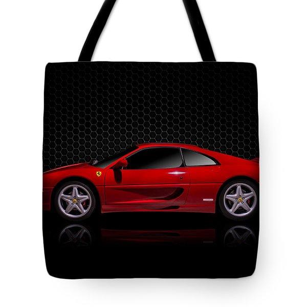 Ferrari Red - 355  F1 Berlinetto Tote Bag by Douglas Pittman